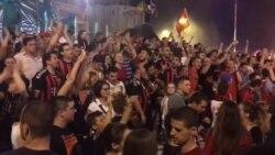 Илјадници граѓани ја слават шампионската титула на Вардар во Скопје