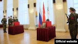 Церемония возвращения останков погибших в ВОВ