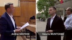 Andrei Năstase şi Valeriu Munteanu în campanie pentru Primăria Chișinău