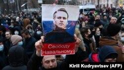 Акция протеста 23 января 2021 года в Москве