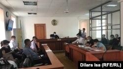 Заседание военного суда по делу о хищении оружия из воинской части. Шымкент, 17 сентября 2020 года.