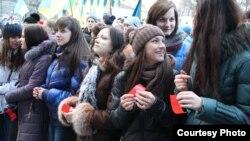 Акція солідарності з київським Євромайданом у Львові, 10 грудня 2013 року