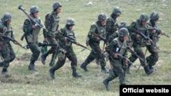Военнослужащие АО НК во время учений (архив)