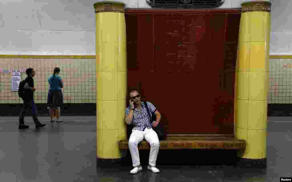The Moscow metro also boasts interesting benches and seats.