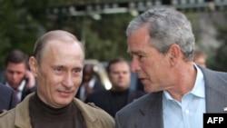 Putin və Buş prezident qismində son görüşlərini keçirdilər