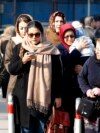 """""""Women in this country don't have the right to choose what they want to wear, they don't have any rights, the Islamic republic must be eliminated,"""" one of the women said. (illustrative photo)"""