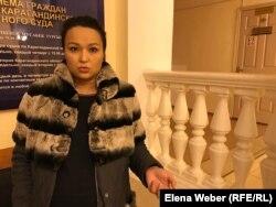 Активистка Алия Садыбраева. Караганда, 19 декабря 2018 года.
