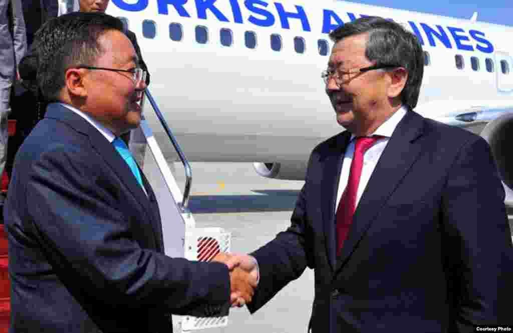 Президент Монголии Цахиагийн Элбегдорж