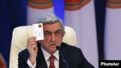 Лидер РПА, президент Армении Серж Саргсян