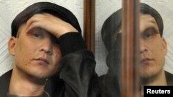 Жаңаөзен сотындағы айыпталушы. Ақтау, 27 наурыз 2012 жыл. (Көрнекі сурет)