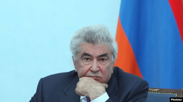 Armenia - Constitutional Court Chairman Gagik Harutiunian at a news conferene in Yerevan, 10Apr2014.