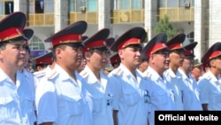 Построение сотрудников ДПС МВД КР в Бишкеке. Иллюстративное фото
