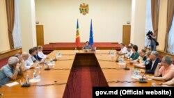 La întâlnirea reprezentanților mass-media cu premierul Maia Sandu
