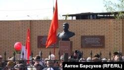 Открытие бюста Иосифу Сталину в Новосибирске