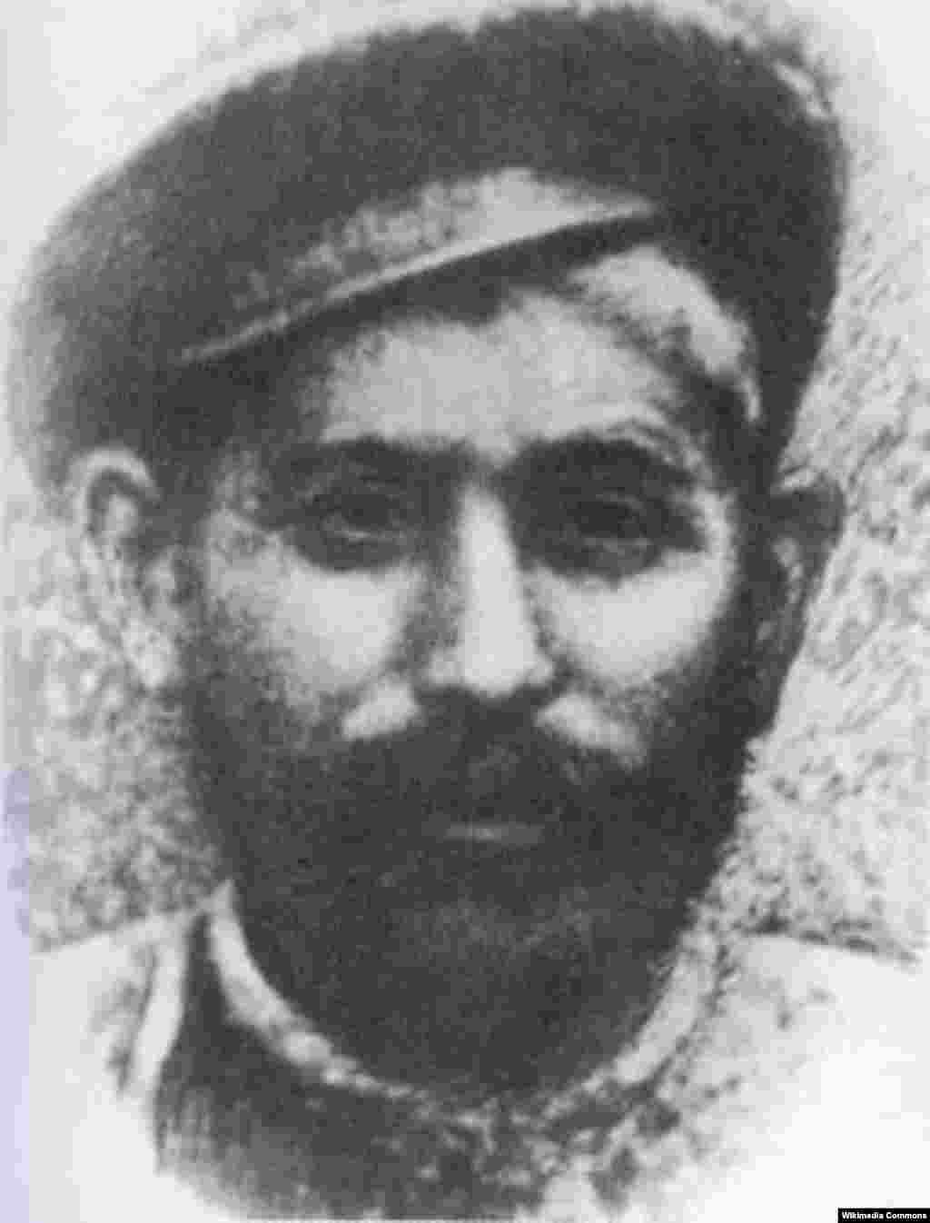Батько Сталіна, Весаріон Вановіс Джугашвілі (1849/1850-1909), швець. Дата світлини невідома.