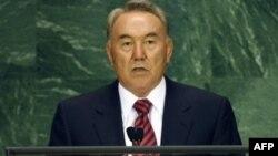 Қазақстан президенті Нұрсұлтан Назарбаев БҰҰ мінберінде. Нью-Йорк, 25 қыркүйек 2007 ж.