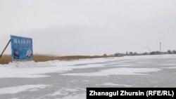 Ледовая площадка на озере Шалкар. Актюбинская область, 28 января 2019 года.