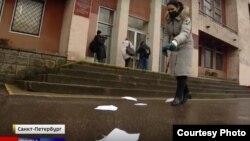 "Скриншот видео с репортажа телеканала ""Россия 1"""