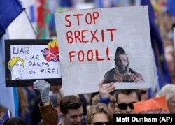 Акция противников Брекзита в Лондоне