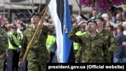 Військові Естонії на параді в Києві, 24 серпня 2017 року, фото ілюстративне