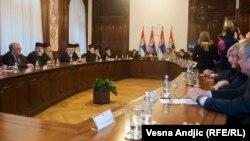 Sastanak državnog vrha i predstavnika SPC i SANU u Beogradu