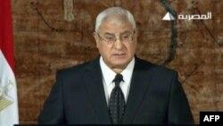 Египеттің уақытша президенті Адли Мансур.