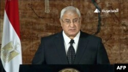 Исполняющий обязанности президента Египта Адли Мансур. Каир, 18 июля 2013 года.