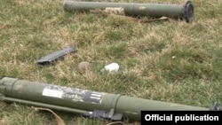 Нагорный Карабах -- Оружие, оставленное азербайджанской стороной во время боестолкновения 19 марта