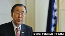 بان گیمون، دبیرکل سازمان ملل متحد.