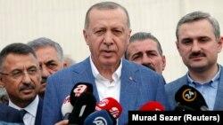 Türkiyə prezidenti Racep Tayyip Erdogan Istanbul, 4 iyun, 2019