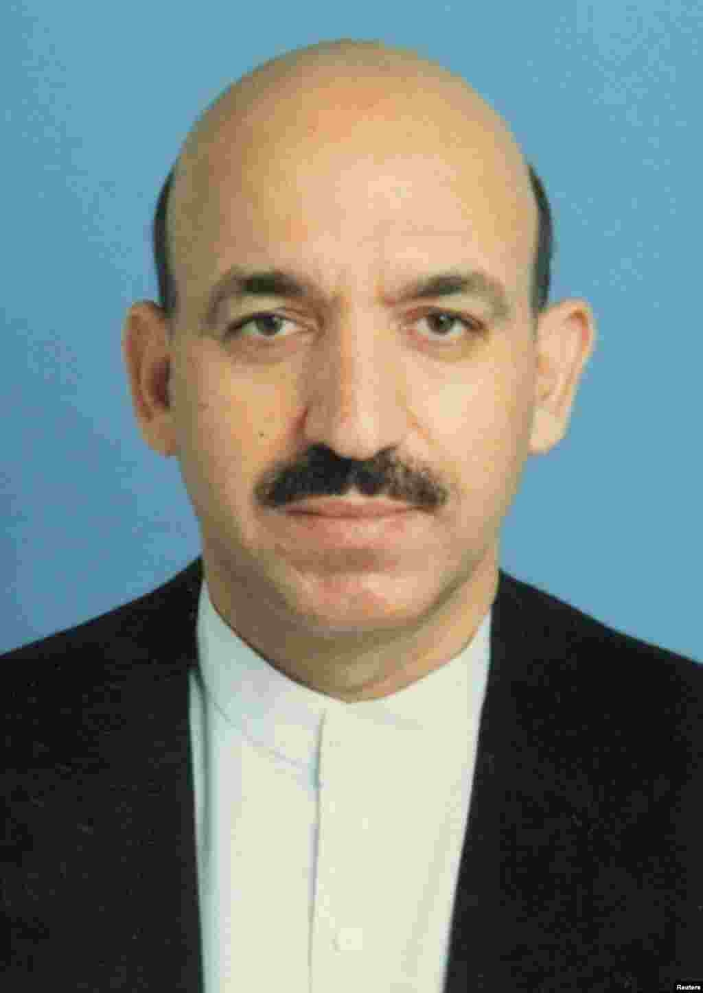 A mustachioed Karzai in a 2001 file photo, shortly before he was named on December 5 of that year as chaiman of the Afghan interim administration during a UN-sponsored conference in Bonn, Germany.