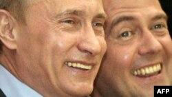 V.Putin və D.Medvedev