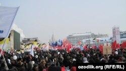Москва, Болотная площадь, акция протеста оппозиции 4 февраля 2012