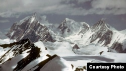 View of Siachen glaciers, site of the huge avalanche.