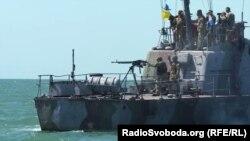 Украинский военный катер в Азовском море