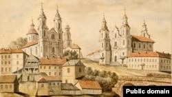 Касьцёл сьвятога Антона (справа) на адным з малюнкаў Напалеона Орды