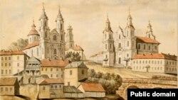 Касьцёл Сьвятога Антонія (справа) на адным з малюнкаў Напалеона Орды