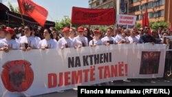 Protest u Prištini zbog događaja u Kumanovu