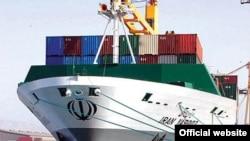 یک کشتی متعلق به شرکت کشتیرانی جمهوری اسلامی