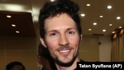 Telegram chief executive Pavel Durov (file photo)