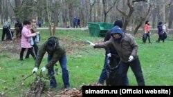 Сімферополь, прибирають листя, архівне фото