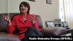 Atifete Jahjaga, a Kosovar politician who served as the fourth president of Kosovo, speaks in Pristina on June 2.