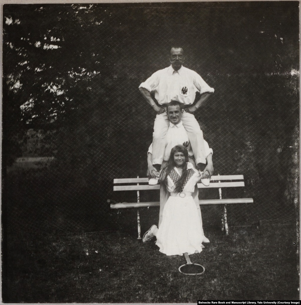 Anastasia, the youngest of the Grand Duchesses, photographed after a round of tennis with an officer and her father, Nicholas II. On the night of the murders, on July 17, 1918, Anastasia fainted in the initial hail of bullets. She awoke moments later and screamed before the Bolshevik troops piled onto her with bayonets.