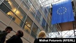 Zastava EU u zgradi Delegacije Evropske unije u Sarajevu, Bosna i Hercegovina
