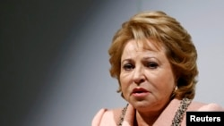 Federation Council speaker Valentina Matviyenko told reporters in Tehran that Russia appreciated Iran's cooperation in Syria.