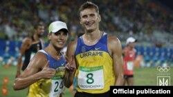Український спортсмен Павло Тимощенко (праворуч