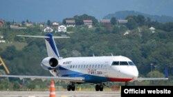 """ЮВТ Аэро"" ширкәтенең Bombardier CRJ200 очкычы"