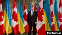 Президент України Петро Порошенко під час візиту до Канади. Вересень 2014 року