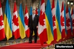 Президент України Петро Порошенко під час візиту до канади. Оттава, вересень 2014 року