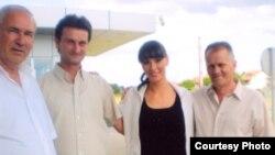 S lijeva na desno Huso Kozica, Aco Nenadić, Katarina Šišmanović (novinarka) i Hasan Jusović